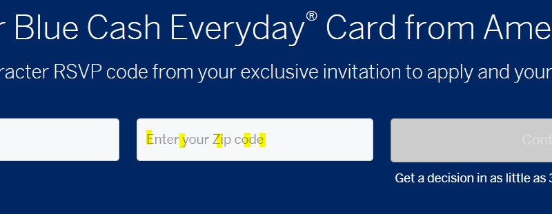 www.RSVP4BCE.com – American Express Blue Cash Everyday Invitation Offer